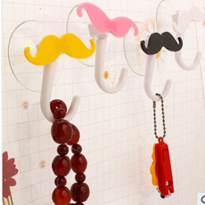 Moustache Design Decorative Wall Hooks(2pcs)