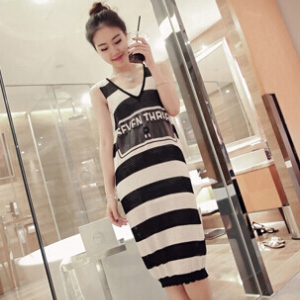 Stripe slim dress