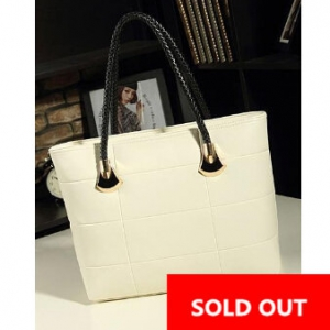 Korean Casual Messenger ladies bag ( White)