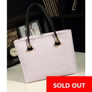 Korean Casual Messenger ladies bag ( Light Purple)