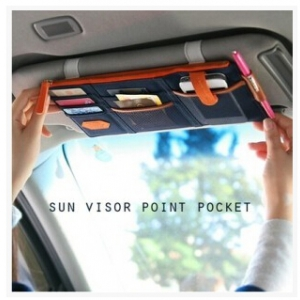 Sun visor point pocket
