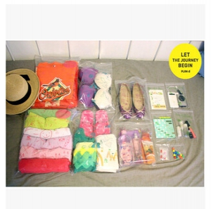 Travel zipper pack  16pcs