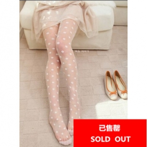 Transparent polka dot stockings pantyhose