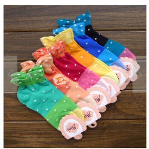 candy-coloured cotton cuff socks Random design