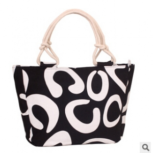 Ladies casual canvas printed shoulder bag