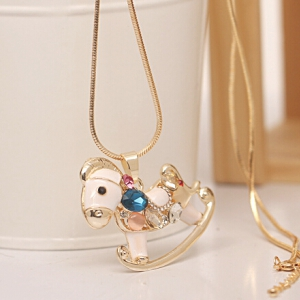 Cute horse necklace
