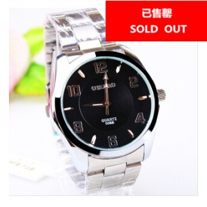 163420 Casual steel watch