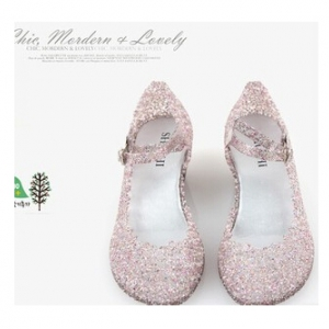 Mary jane jelly wedges