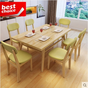 Dining table& six chairs