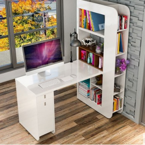 preorder- Desk with shelf unit