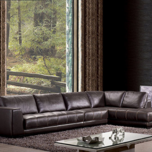 preorder- Leather three seat sofa +chaise longue