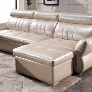 preorder- Leather three-seat sofa+foot stool
