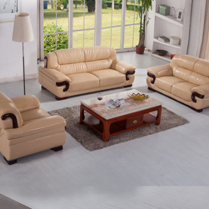Preorder-Leather three-seat sofa+two-seat sofa +armchair