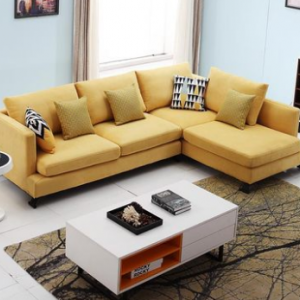 Preorder-Fabric two-seat sofa + chaise longue