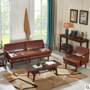 Preorder-Leather three-seat sofa+armchair