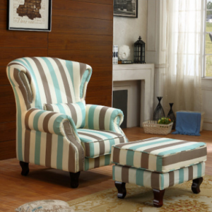 Preorder-Fabric armchair+foot stool