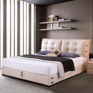 Preorder-double bed+bedside table